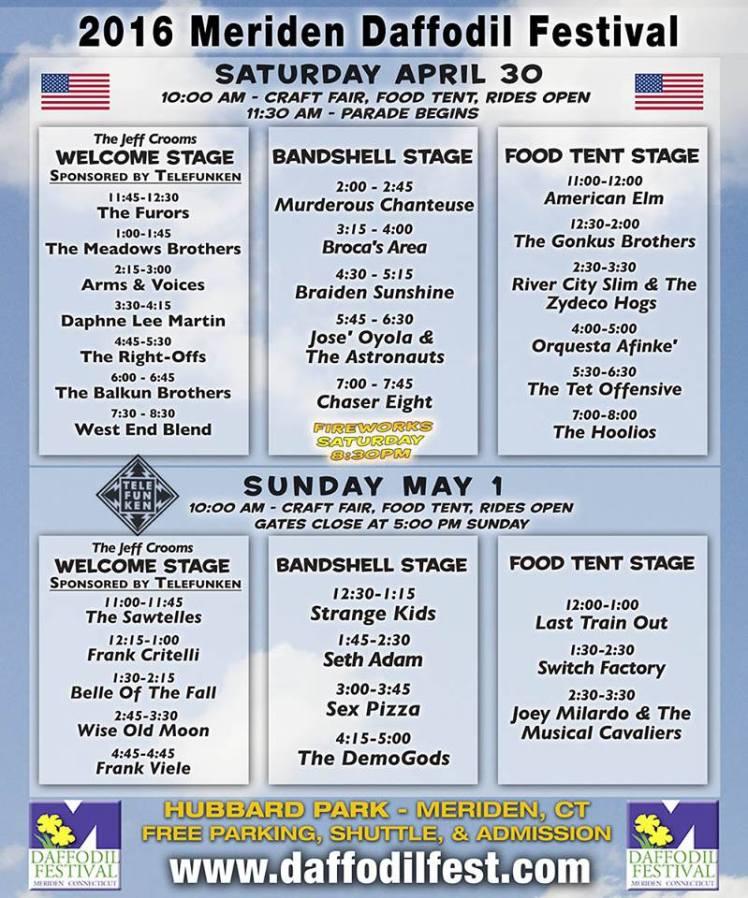 Daffodil Festival schedule